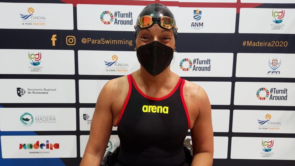 Spanish swimmer Teresa Perales.