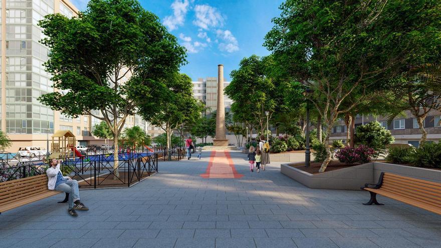 Así es la nueva plaza Pilar Miró de Elche