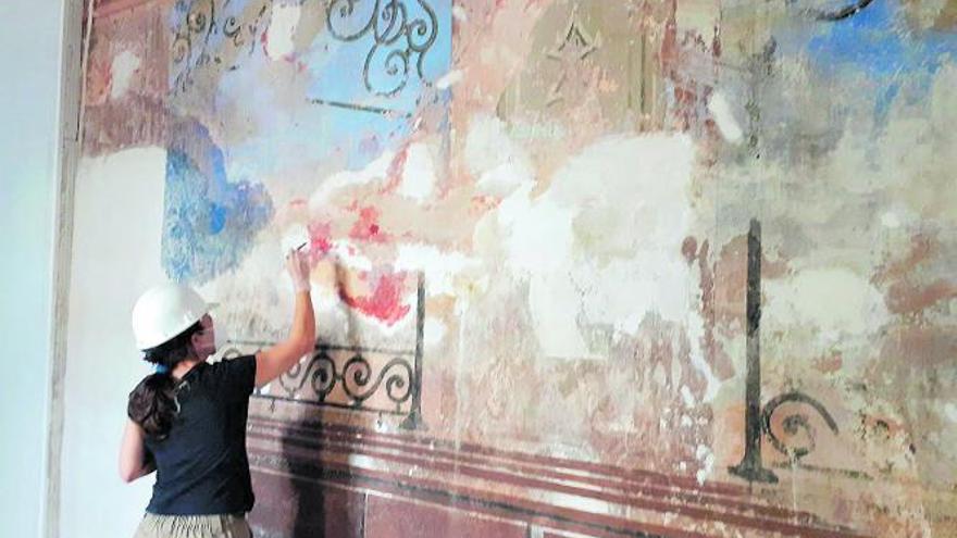 Hallan pinturas murales  y lagares escondidos en una alquería de Alfafar