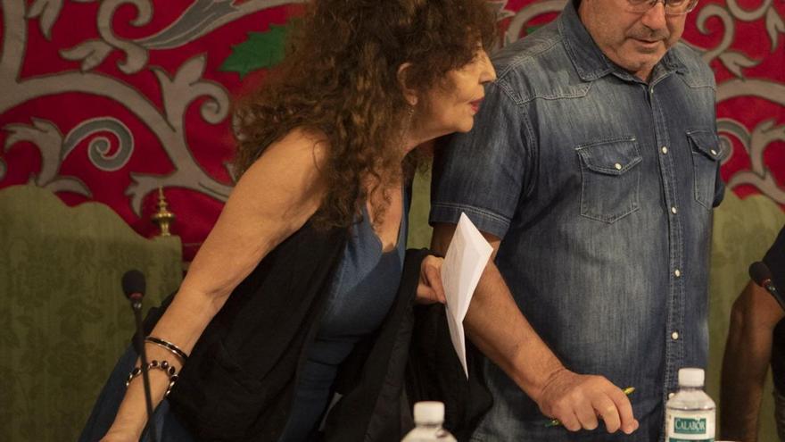 Laura Rivera y Francisco Guarido, en el Ayuntamiento de Zamora.