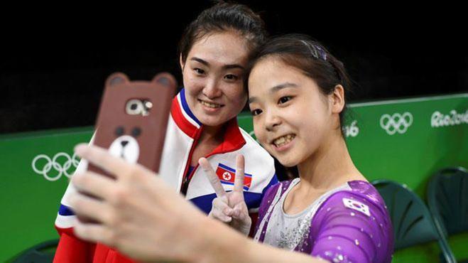 Selfie de las dos Coreas