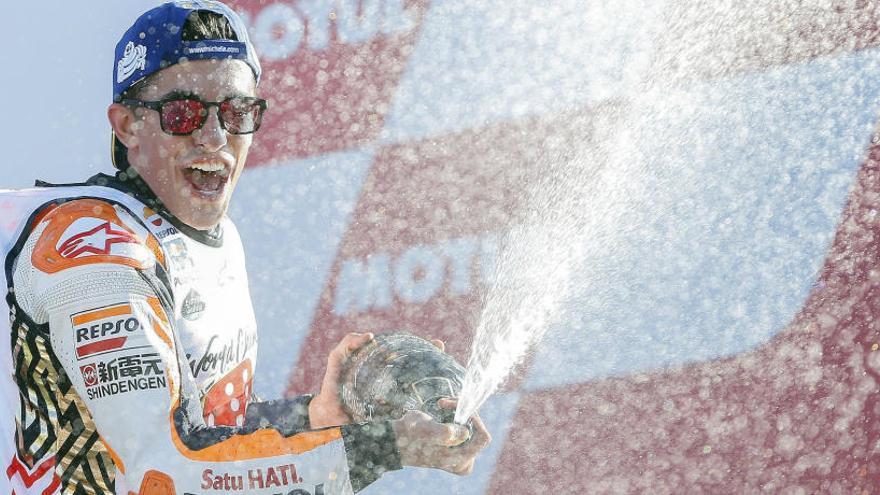 Marc Márquez es proclama campió del món amb un tercer lloc a Xest