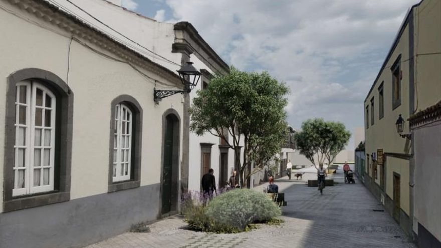 Valleseco se peatonaliza para darle un ambiente comercial y terrazas