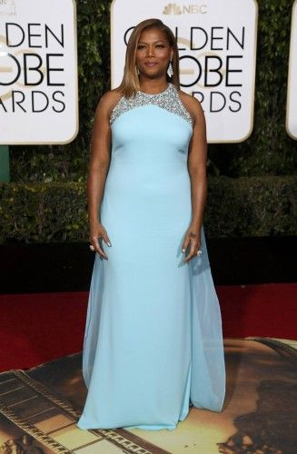 Actress Queen Latifah arrives at the 73rd Golden Globe Awards in Beverly Hills