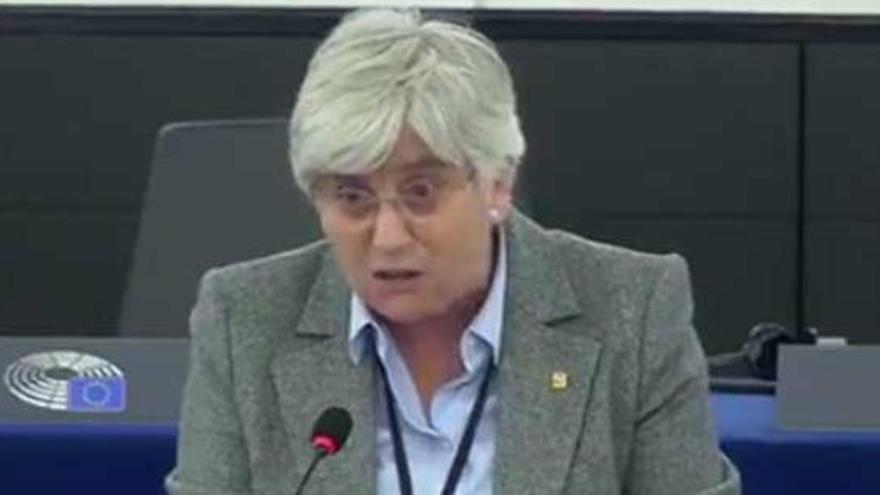 Ponsatí se estrena en el Europarlamento asegurando que España inspiró a Hitler