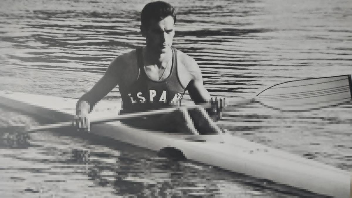 Joaquín Larroya, en su etapa como deportista