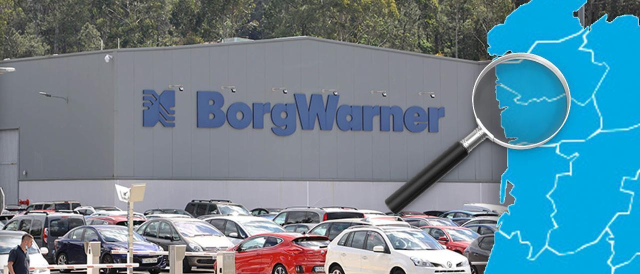 La planta del grupo BorgWarner en Zamáns,Vigo,