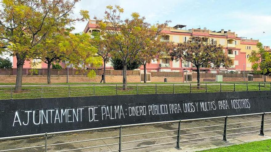 Acción de protesta en Son Güells