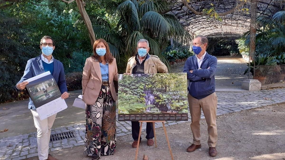 Presentación del calendario del Jardín Botánico La Concepción de 2021.