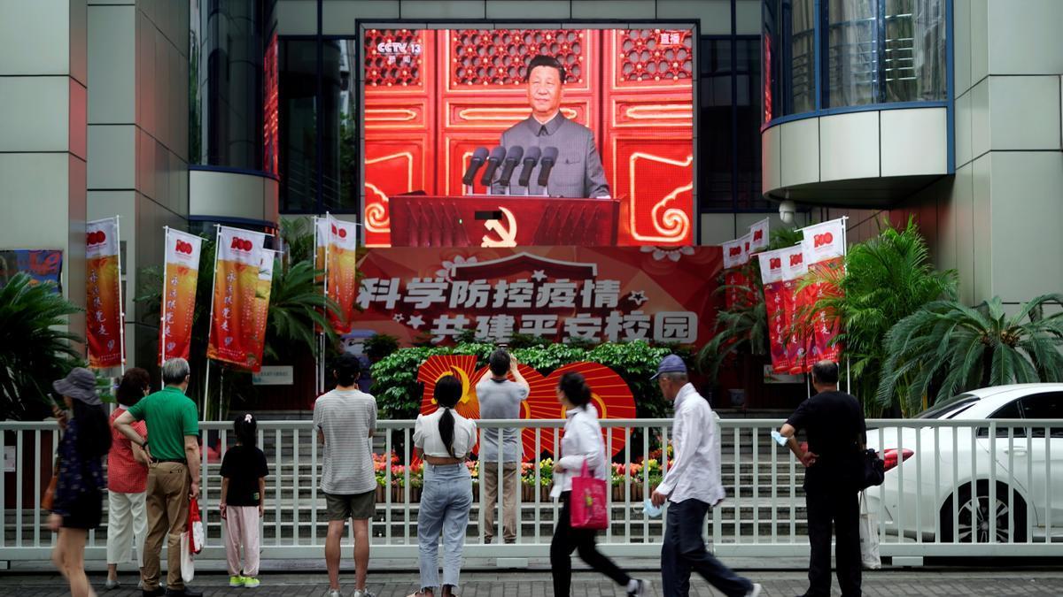 Xi Jinping, en su discurso por el centenario del partido comunista.