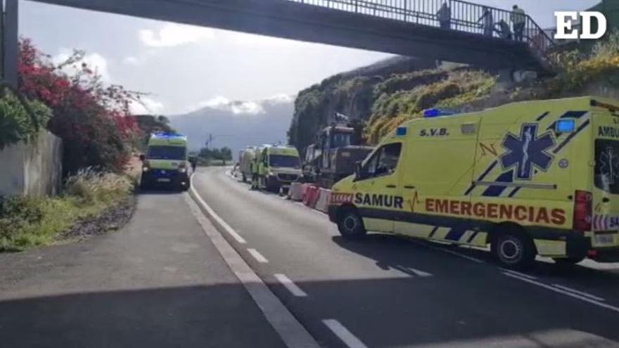 Tres operarios heridos tras sufrir un accidente en Tenerife
