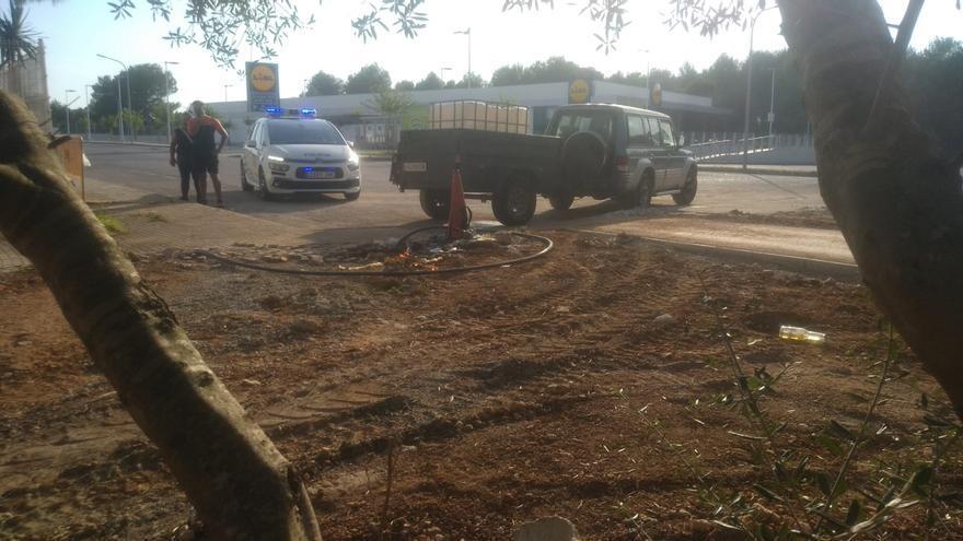 Sorprendidos extrayendo agua de un contador del Ayuntamiento de Santa Margalida