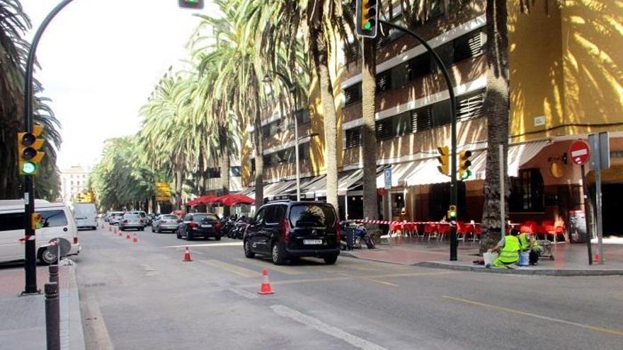 El avance de las obras del metro permite abrir al tráfico el paso de Santo Domingo