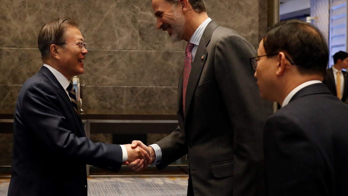 Los Reyes viajaron a la República de Corea en 2019.
