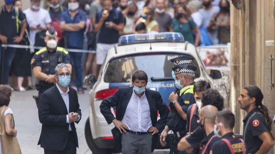 Retiren el cordó policial després de l'incident al costat de la Rambla