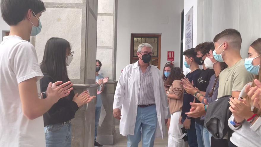 Despedida a Manolo Gutiérrez Casermeiro como médico del colegio Maristas de Málaga