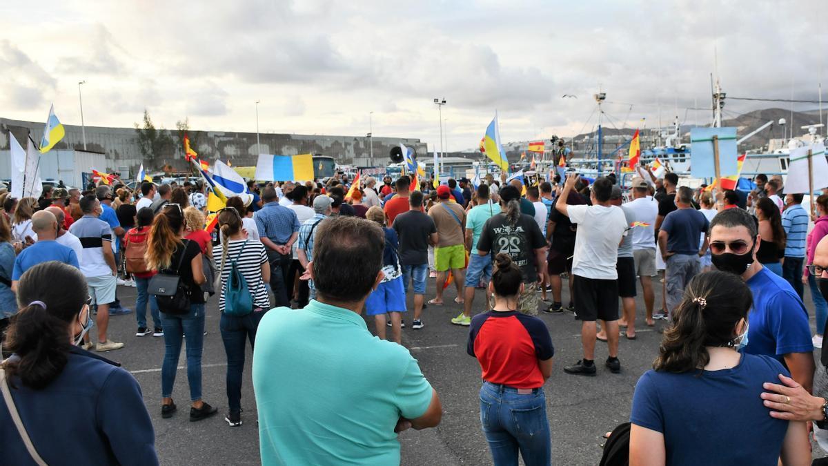 Nueva manifestación en Arguineguín