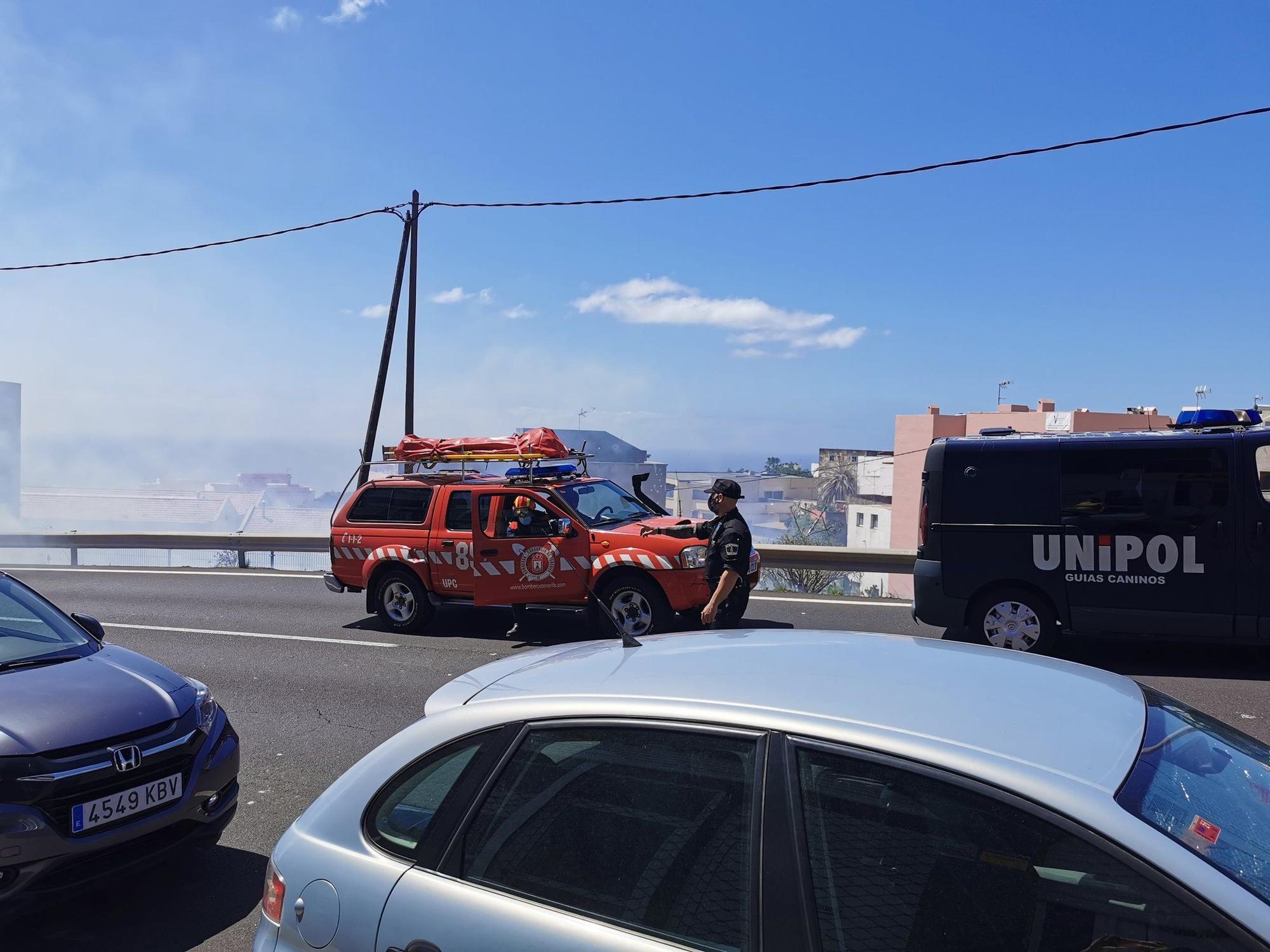 Incendio en El Sobradillo