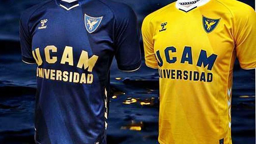 Los detalles dorados llegan a la camiseta del UCAM Murcia CF de la mano de Hummel