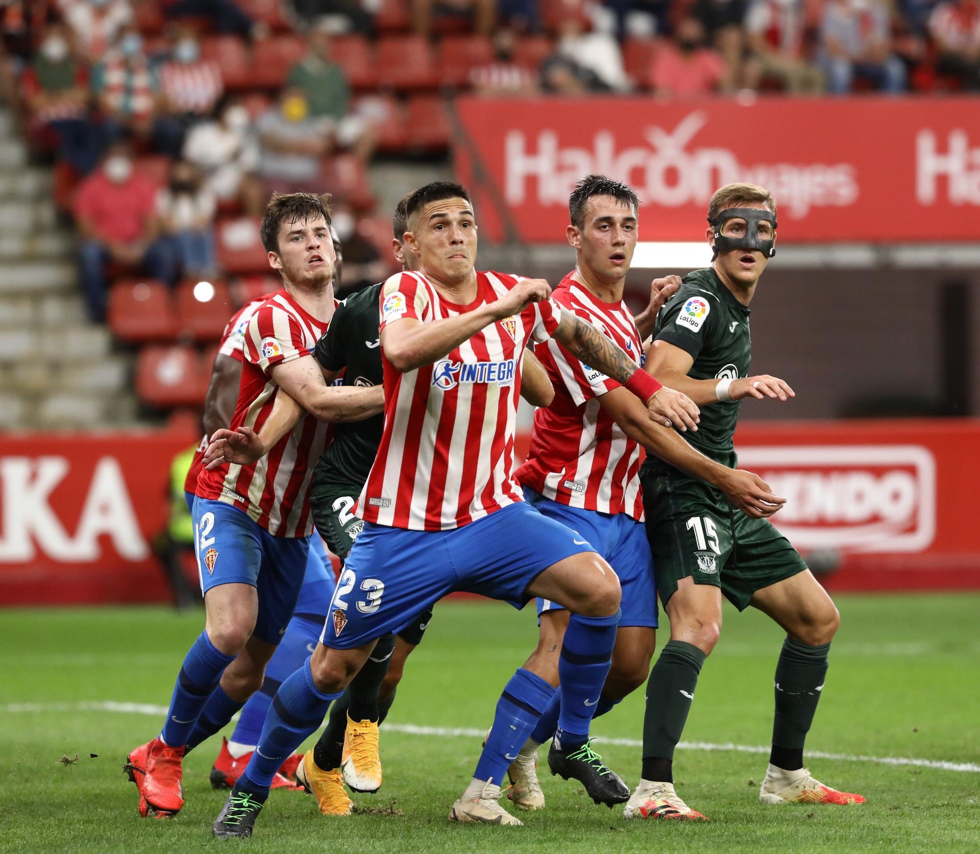 La victoria del Sporting ante el Leganés (2-1) en imágenes