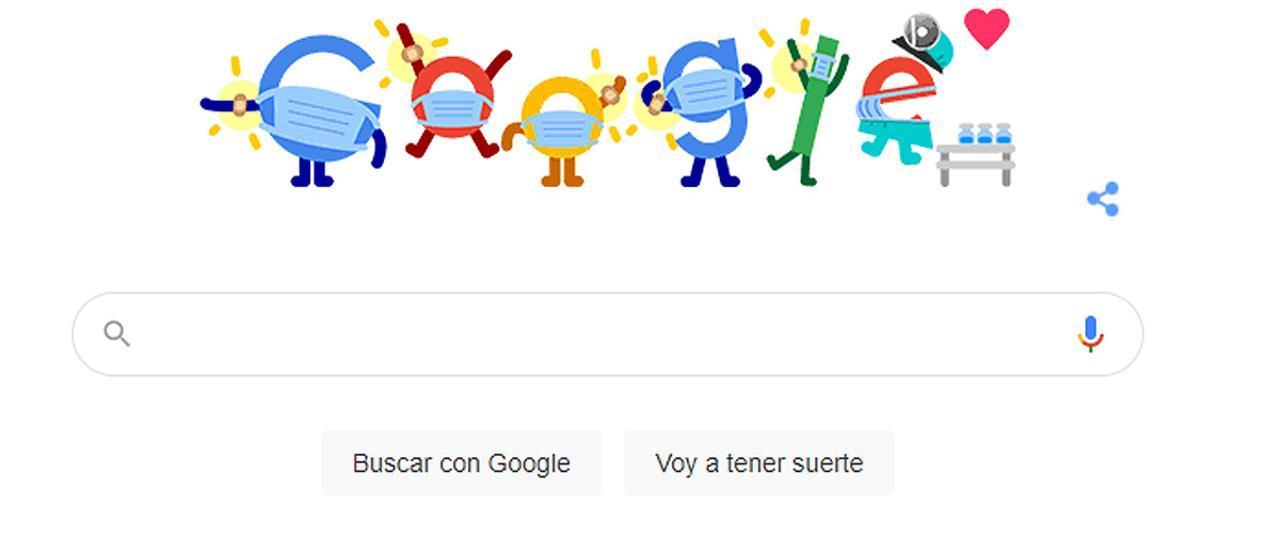 La vacunación contra la Covid-19, en el 'doodle' de Google