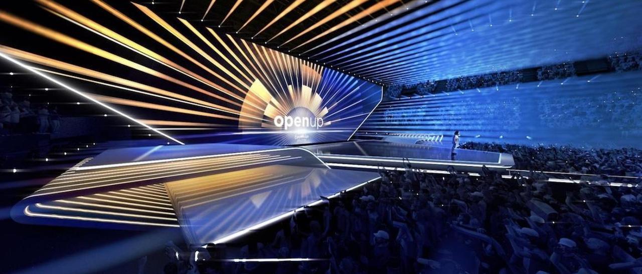El escenario de Eurovisión.
