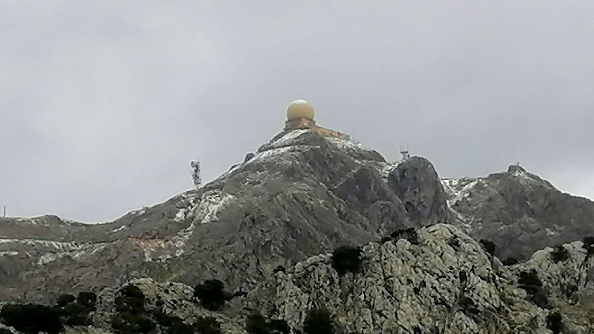 Nieve en el Puig Major el pasado 2 de diciembre