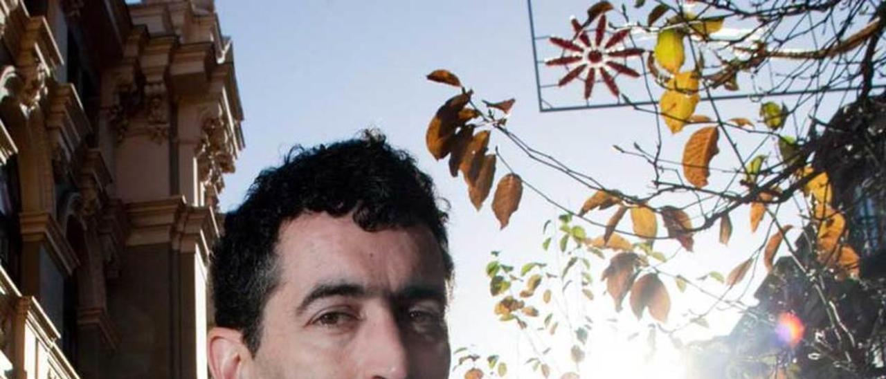 Juan Mayorga, en su última visita a Avilés.