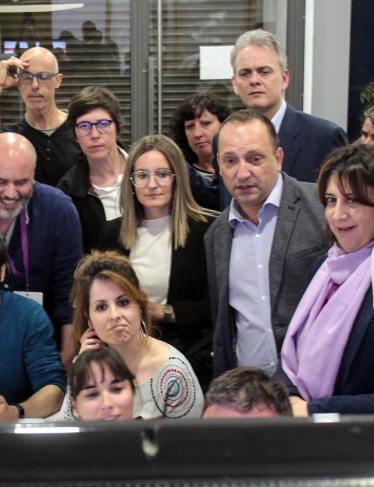 Noche electoral en la sede de los partidos