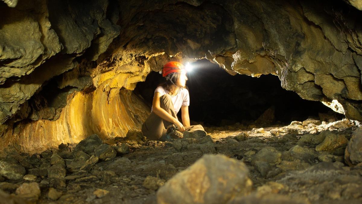 Una de las cuevas colgadas de La Palma