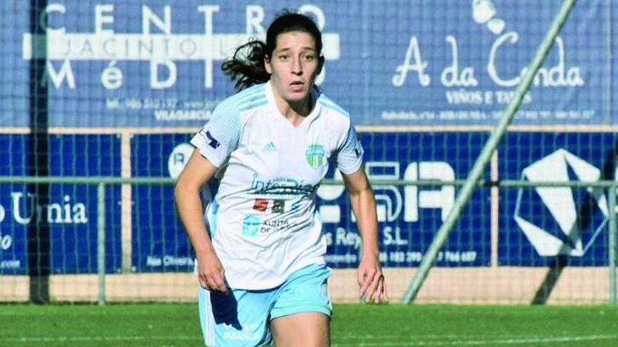 La jugadora del InterRías durante un partido. |  // ALMUDENA DAPENA