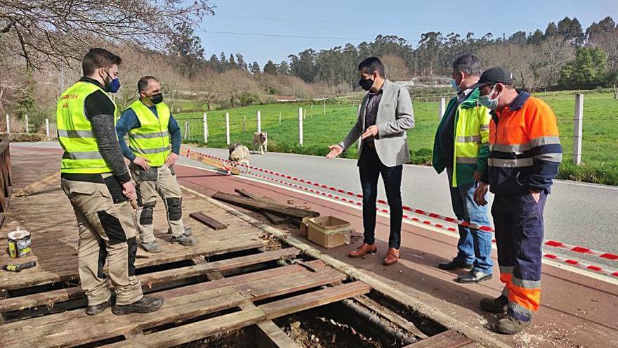 Reparada la pasarela de A Calzada en Ponte Caldelas