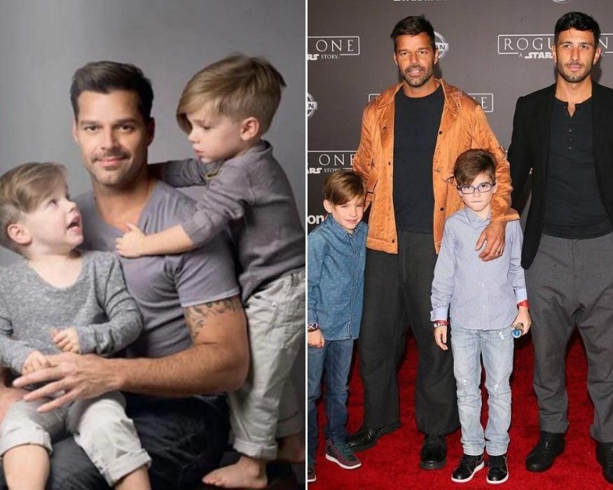 Los hijos de Ricky Martin.