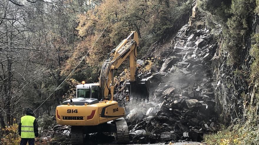El Principado invierte un millón de euros en arreglar carreteras dañadas por los temporales