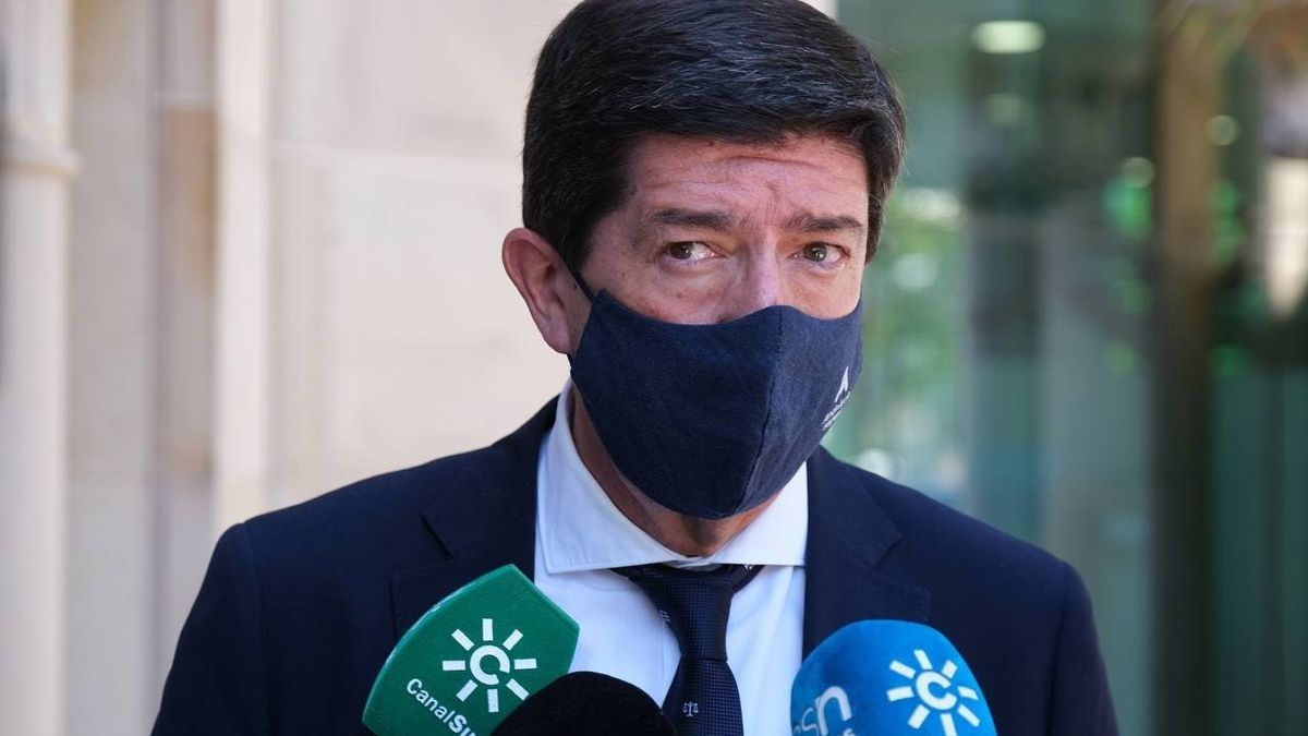 El vicepresidente de la Junta de Andalucía y consejero de Turismo, Juan Marín.