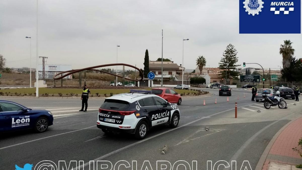 Archivo - Control de la Policía Local de Murcia