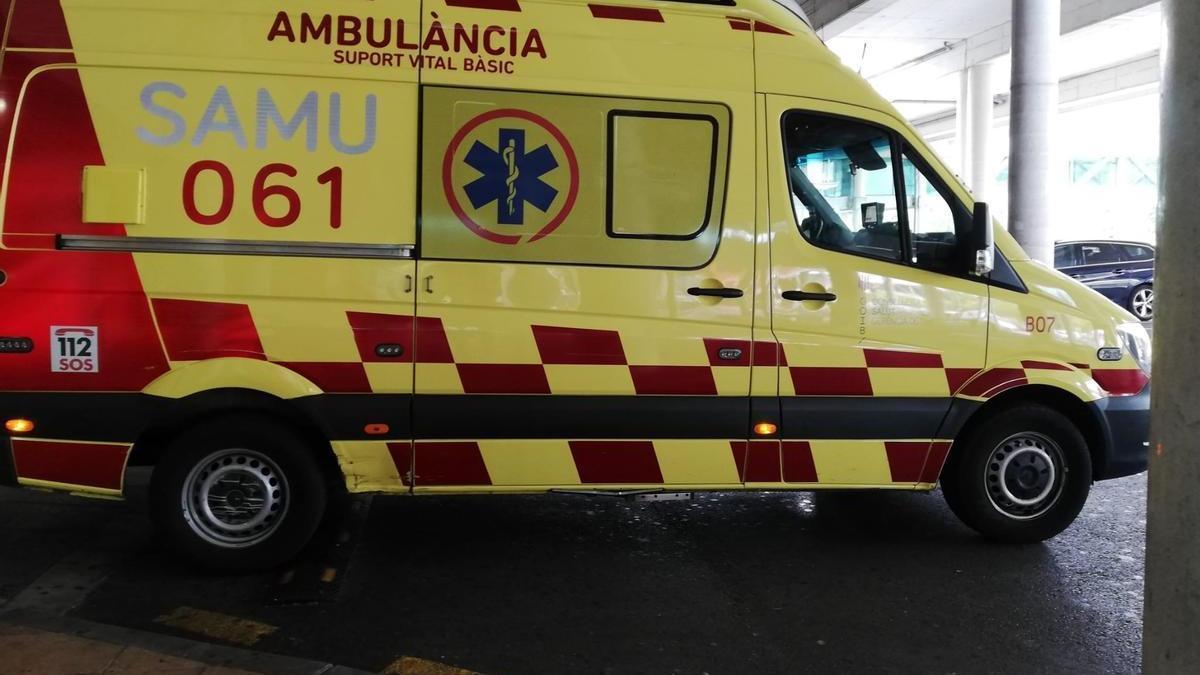 Una ambulancia del SAMU 06.