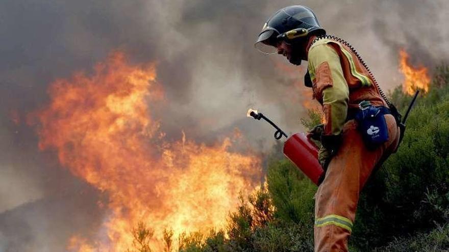 Asturias registra una treintena de fuegos que obligan a realizar desalojos y cortes de carreteras