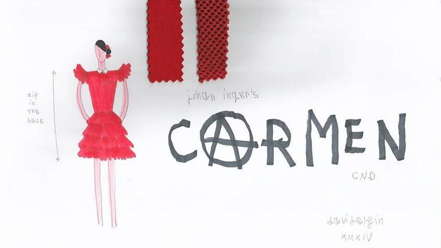 David Delfín viste a la nueva 'Carmen'