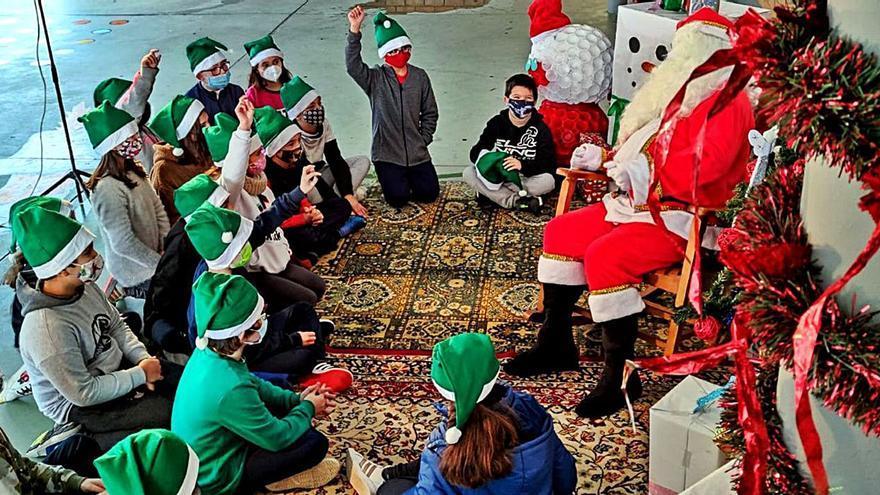 El primer Papa Noel que llega a la comarca.