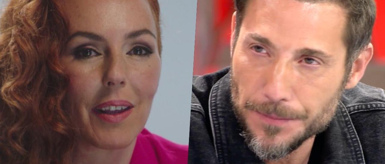 Rocío Carrasco y Antonio David en 'Sálvame'.