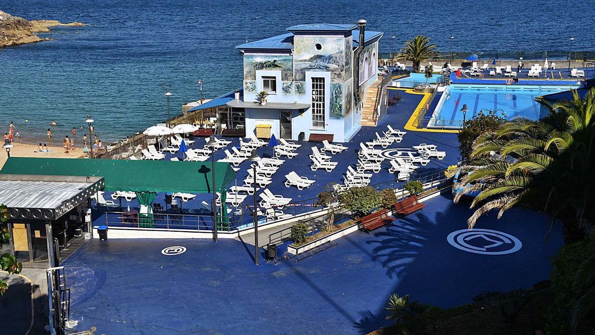 Instalaciones del Club del Mar durante el pasado mes de julio.