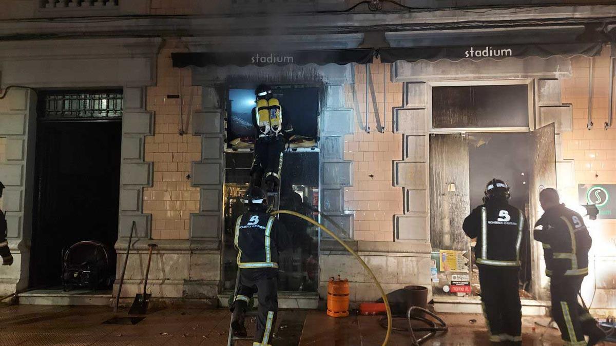 Incendio en una tienda de ropa en Ribadesella