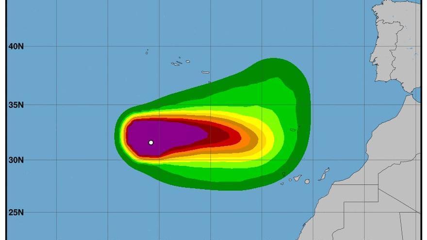 Crece la probabilidad de que 'Tetha' alcance a Canarias