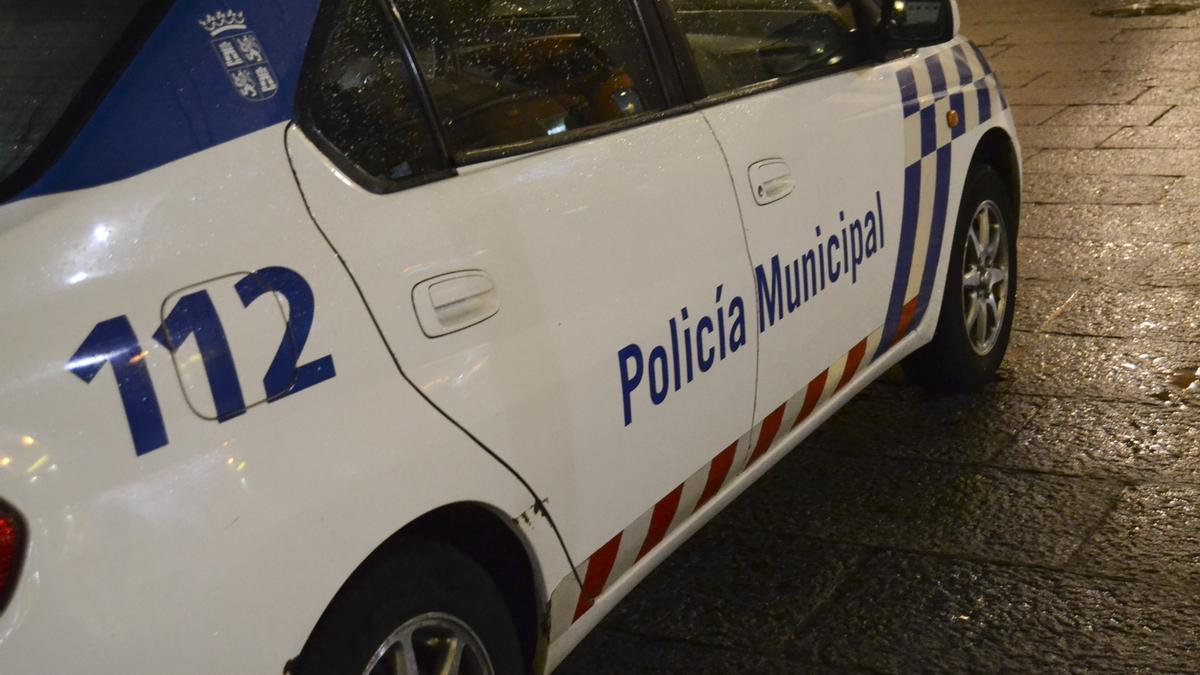 Coche patrulla de la Policía Municipal.