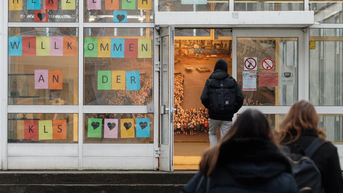 Escuela en Alemania durante la pandemia de coronavirus.