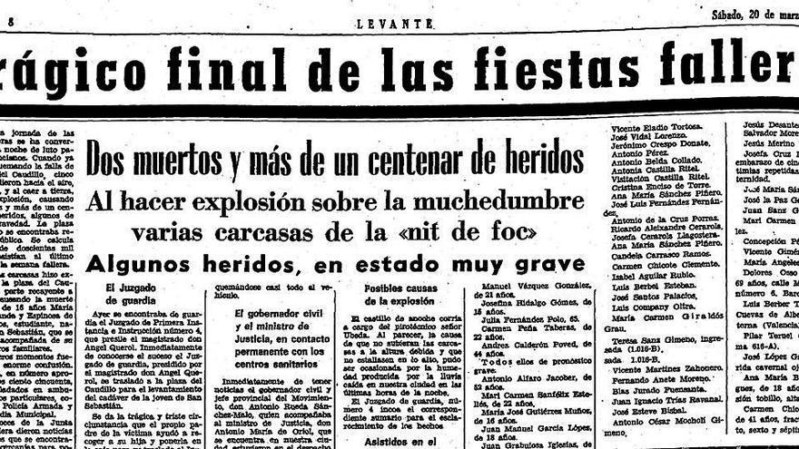 Medio siglo de la noche más negra de la historia de las Fallas