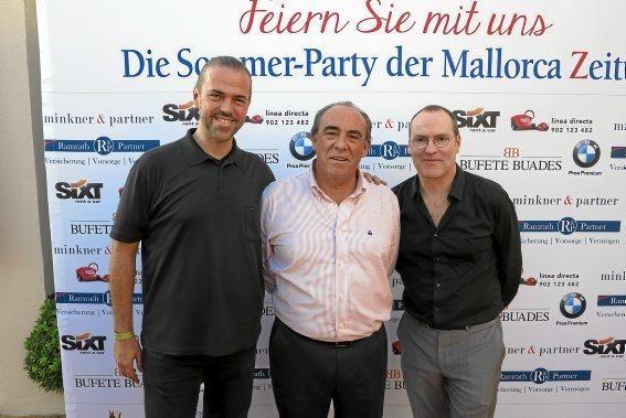 Inselradio-Chef Daniel Vulic, José Manuel Atiénzar, Ciro Krauthausen