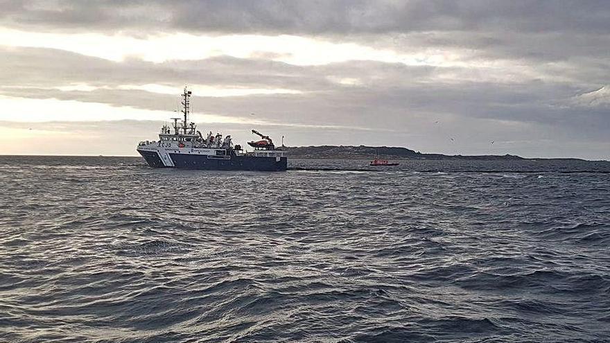 Capitanía Marítima investiga el vertido del tamaño de 15 campos de fútbol en Arousa