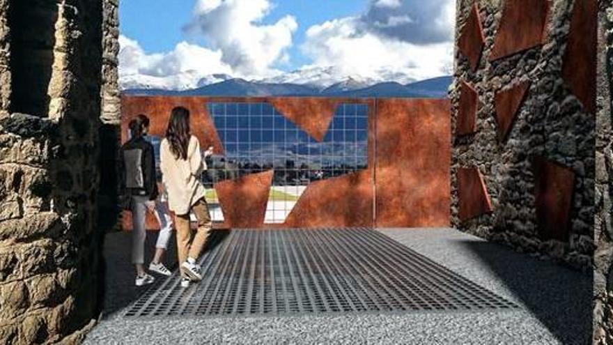 Guils remodela el cementiri vell de Saneja per fer-ne un espai de visita